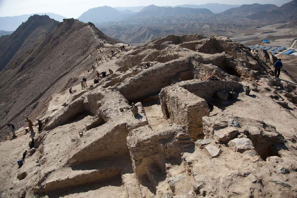 Mes Aynak is located about 25 miles (40 km) east of Kabul and contains an ancient Buddhist monastic complex.