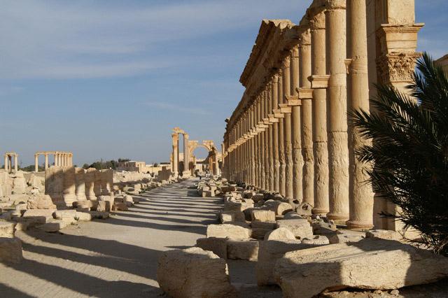 Palmyra's main street.