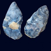 Flint tools found in Acheulean level