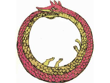 The Uroborus (Snake biting its tail).