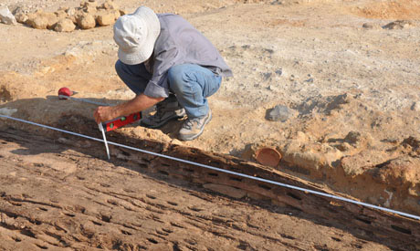 Digging with the French in Abu Rawash...