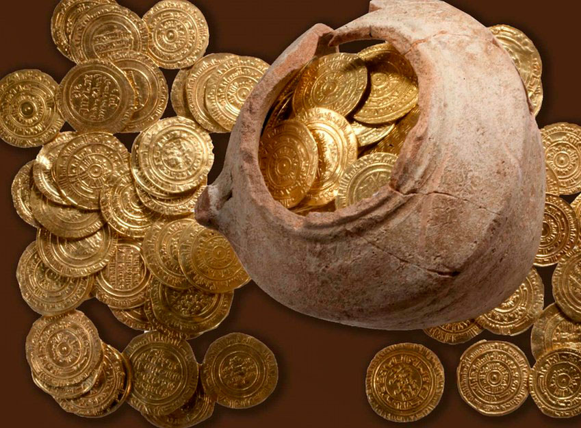 108 gold coins have been unearthed in Israel.