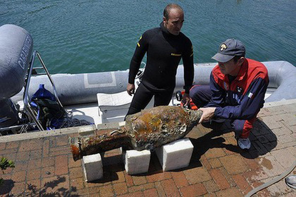 Residents knew riches lay beneath because local fishermen had been collecting artefacts in their nets.