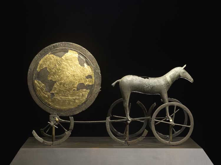 'The Chariot of the Sun', Trundholm, Zealand, Early Bronze Age, 14th century BCE.
