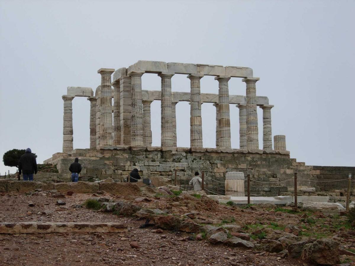 Temple of Poseidon at Cape Sounion.