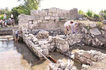 The second synagogue from the Lycian civilization has been discovered in Finike.