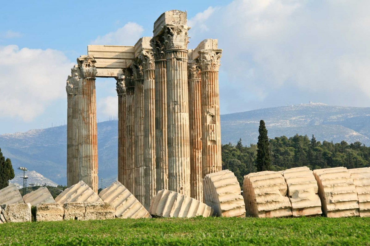 The Temple of Zeus, Athens.