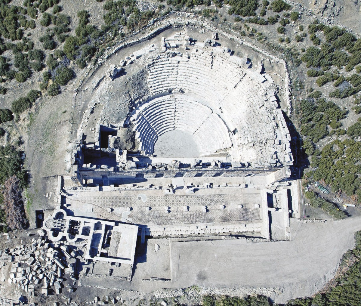Archaeologists have uncovered a stadium in Anatolia at Aydın's ancient city of Magnesia, along with a theater, an agora and wall motifs.