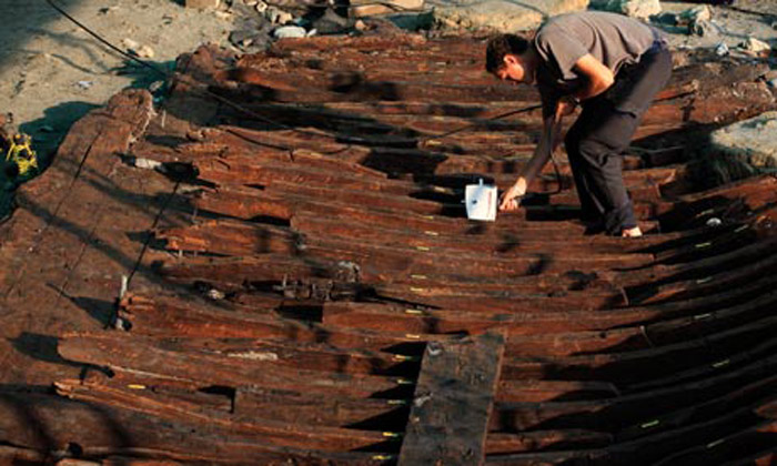 Ancient amazement ... the merchant vessel's cargo will likely remain a mystery.