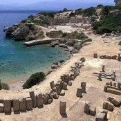Ancient ruins on the shore