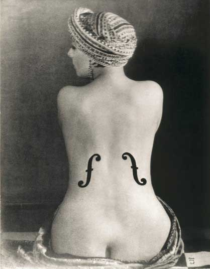 Le Violon d'Ingres, 1924, is one of Man Ray's most famous images. The subject is Kiki de Montparnasse, the model, artist and performer who was his muse and partner during the 1920s.