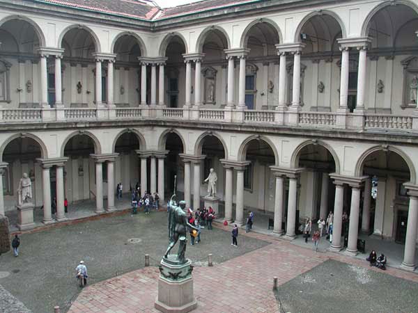 The Pinacoteca di Brera, Milan, holds one of the finest art collections in Italy.