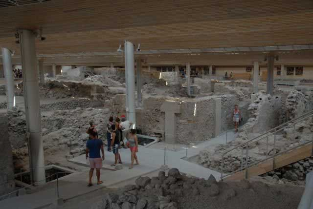The Akrotiri archaeological site on the island of Santorini reopened, after remaining closed for seven years.