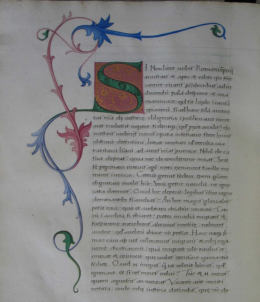 Codex Seitenstettensis 30. Seitenstetten Abbey, Austria. Contains Tertullian's Apologeticum.