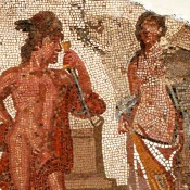 The Romans used Greek myths in their mosaics