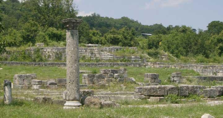 Archaeological site of Veliki-Preslav, Bulgaria.