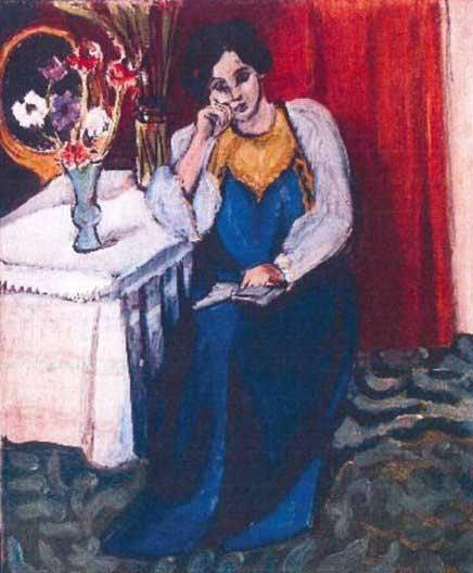 The 1919 painting 'Reading Girl in White and Yellow' by Henri Matisse. (AP Photo/Police Rotterdam)