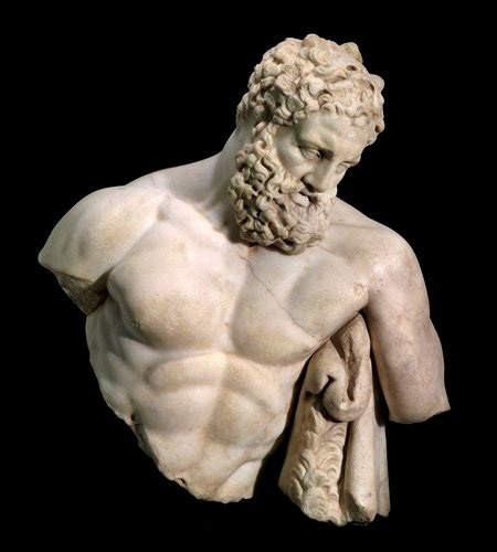 """The top half of the """"Weary Herakles"""" statue recently returned to Turkey by the Museum of Fine Arts, Boston."""
