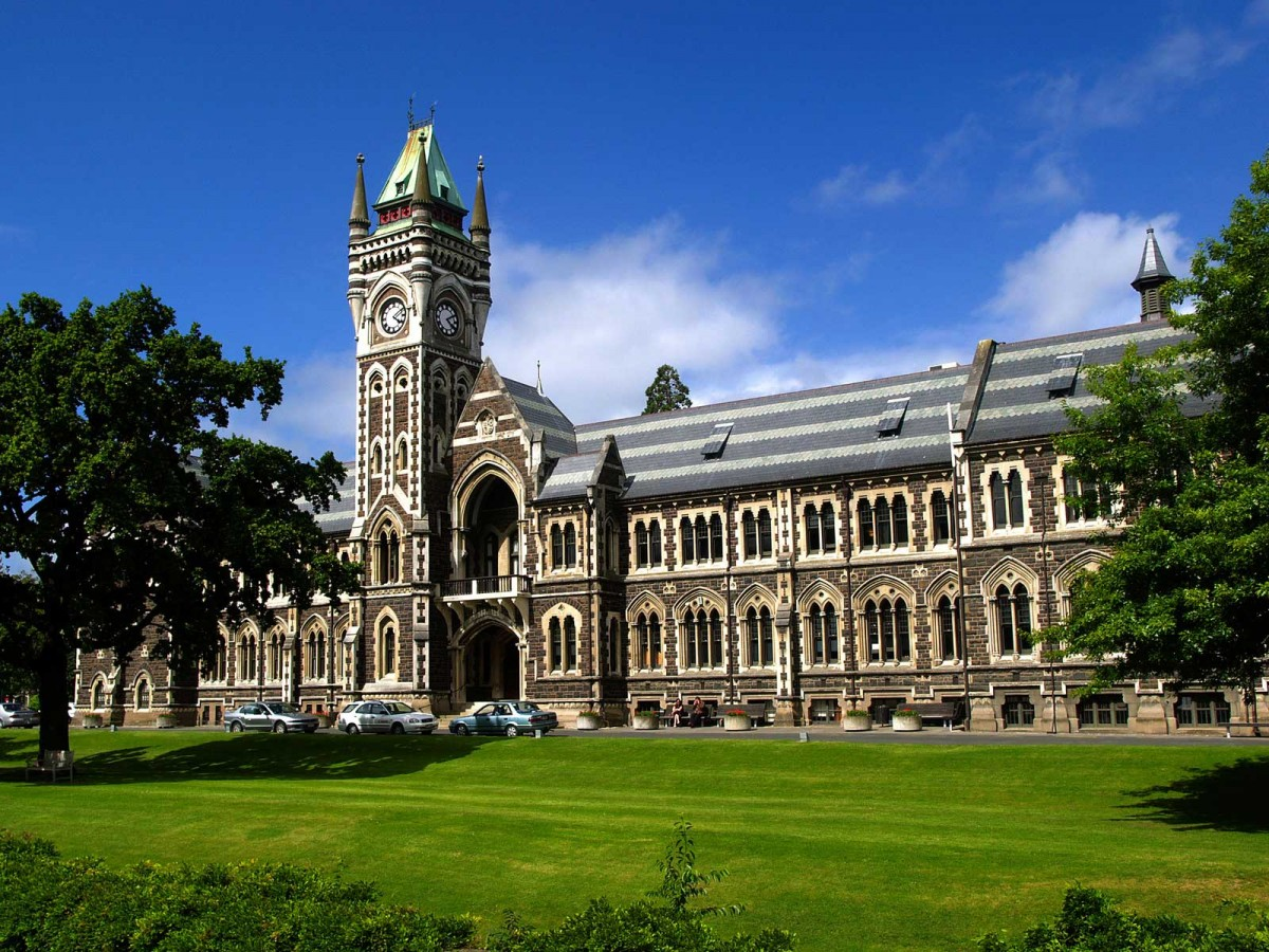 University of Otago, Clocktower Building. Dunedin, New Zealand.
