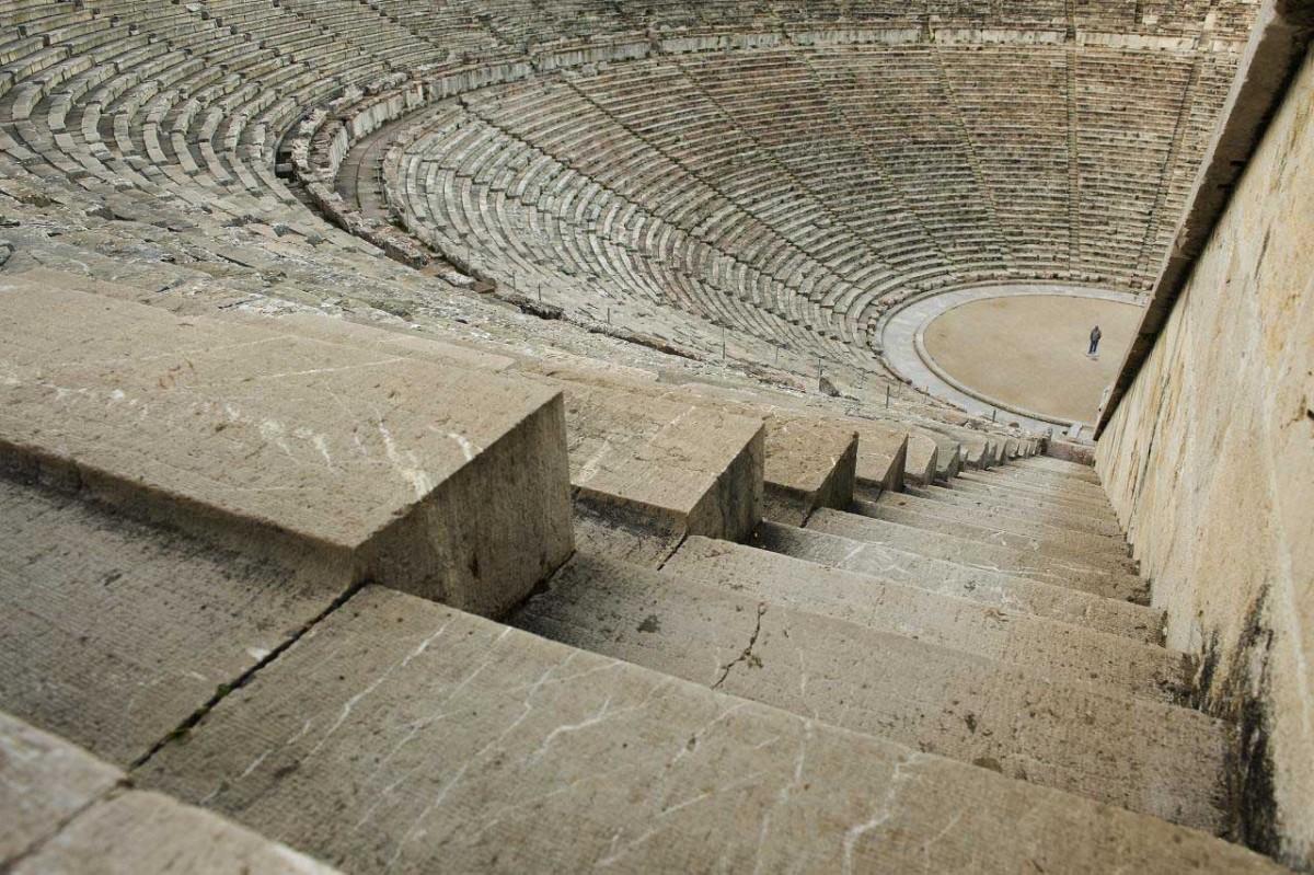The Epidaurus Theatre.
