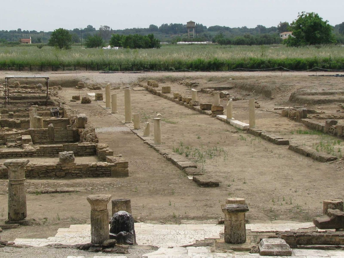 Archaeological site of ancient Eleia.