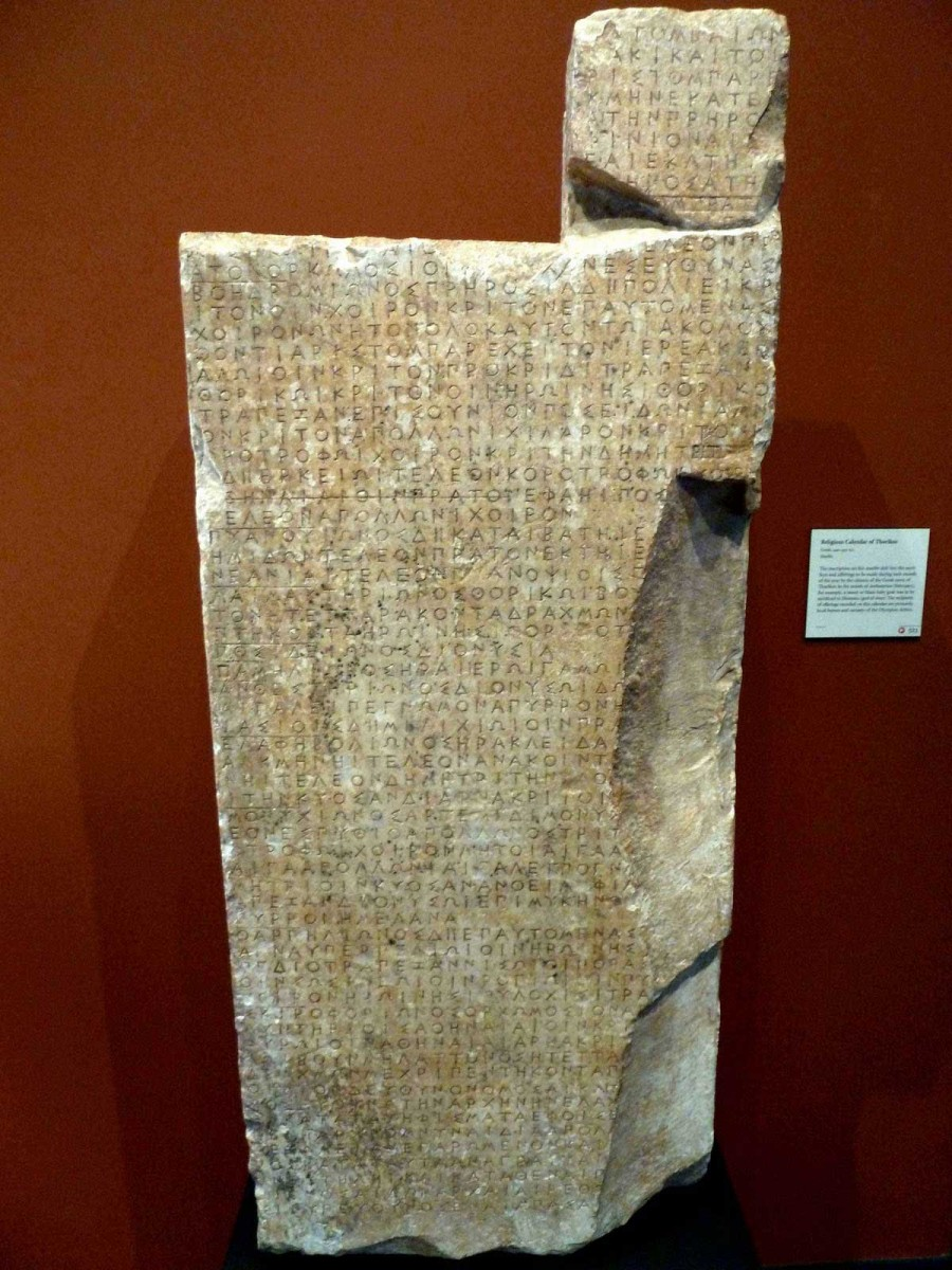 The inscribed stele of Thorikos, 430-420 BC.
