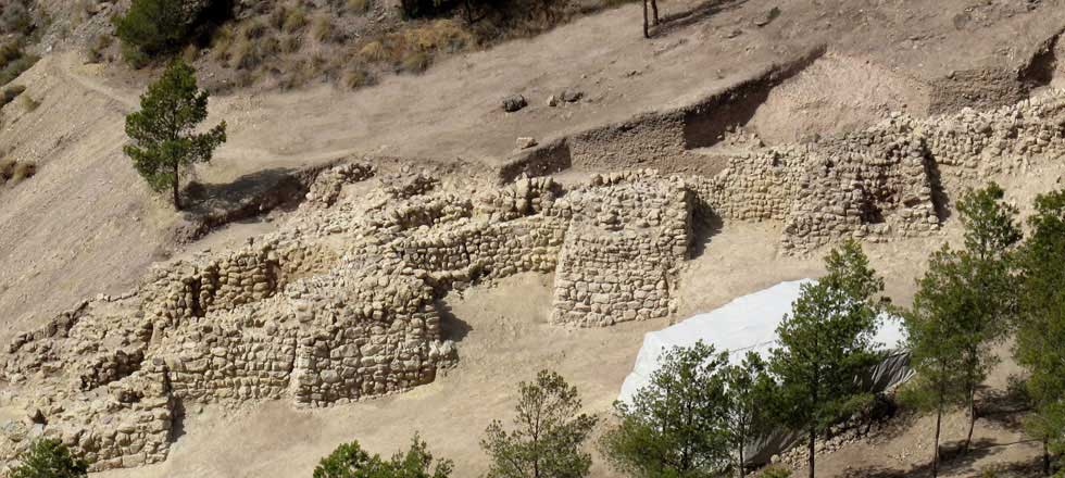 Part of the fortification wall. Image: Universitat Autonoma de Barcelona.