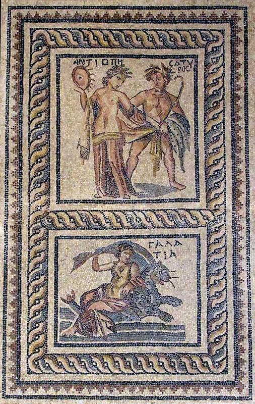 Fig. 5. The mosaics that once decorated Zeugma's elite residences often depicted mythological scenes. (Matthew Brunwasser)