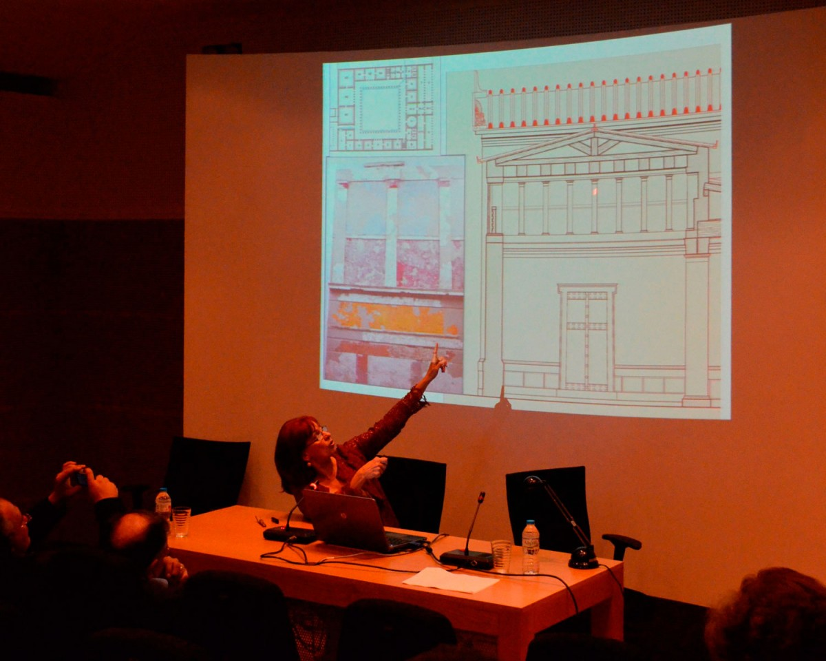 Angeliki Kottaridi presented the new research data on the Aigai palace during a one-day conference held at Mieza.