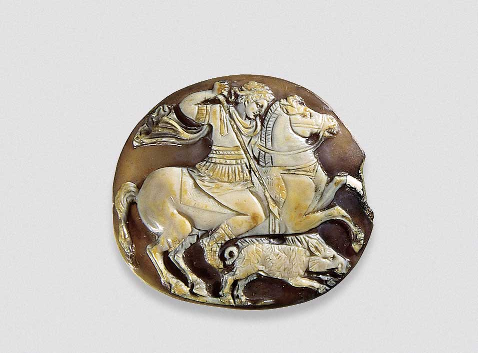 Alexander the Great Hunting a Wild Boar, 1st century AD. Hermitage State Museum, St Petersburg, Russia.