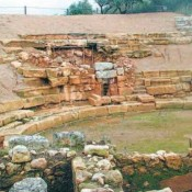 Excavations at the ancient theatre of Aptera