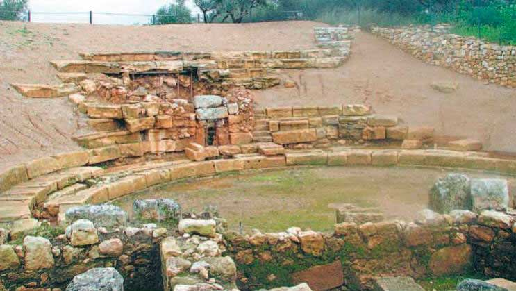 The ancient theatre of Aptera.
