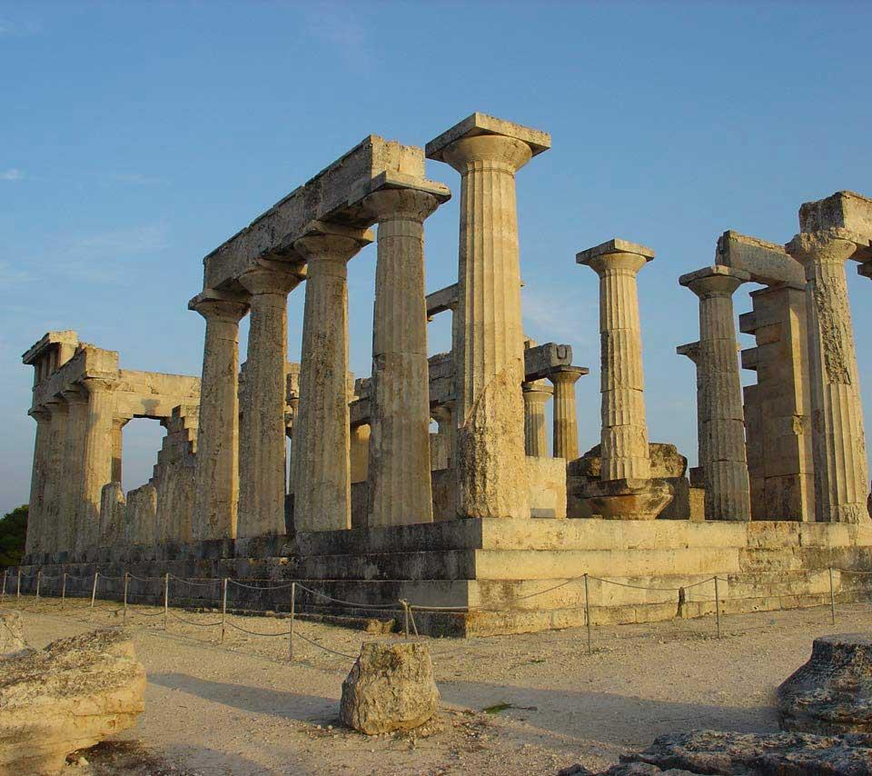 The temple of Athina Afaia (Aigina, Greece).