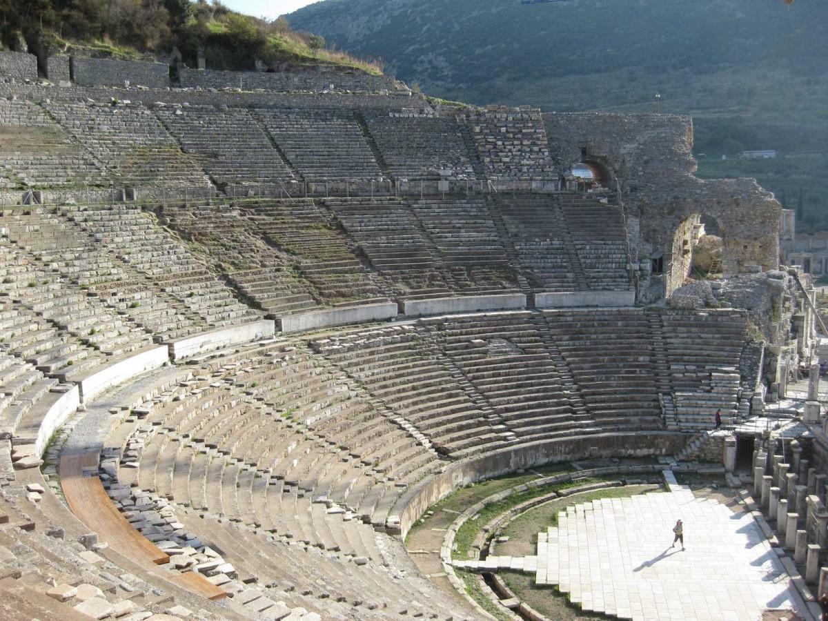 The ancient theatre of Ephesus.