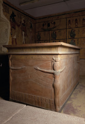 Facsimile of the sarcophagus & burial chamber of the Tomb of Tutankhamun.