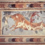 Minoan wall-paintings at Herakleion Museum