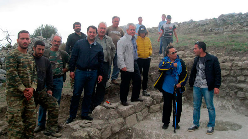 An archaeological excavation has just started at the