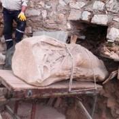 Female statue found in ancient Metropolis