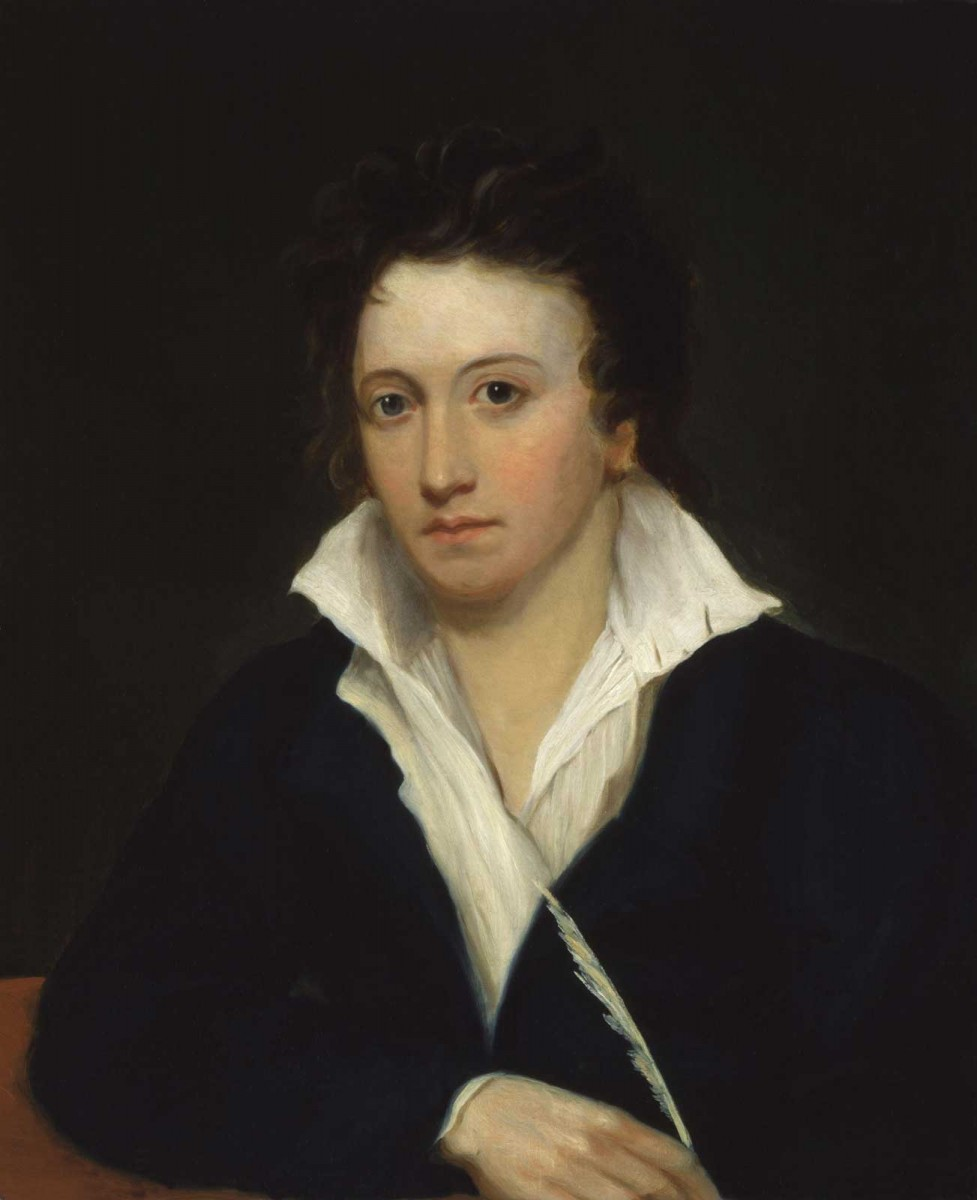 Percy Bysshe Shelley, by Alfred Clint.