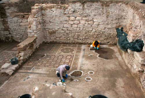 View of the excavation at Plotinopolis.