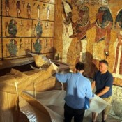 Unveiling of King Tut's replica tomb
