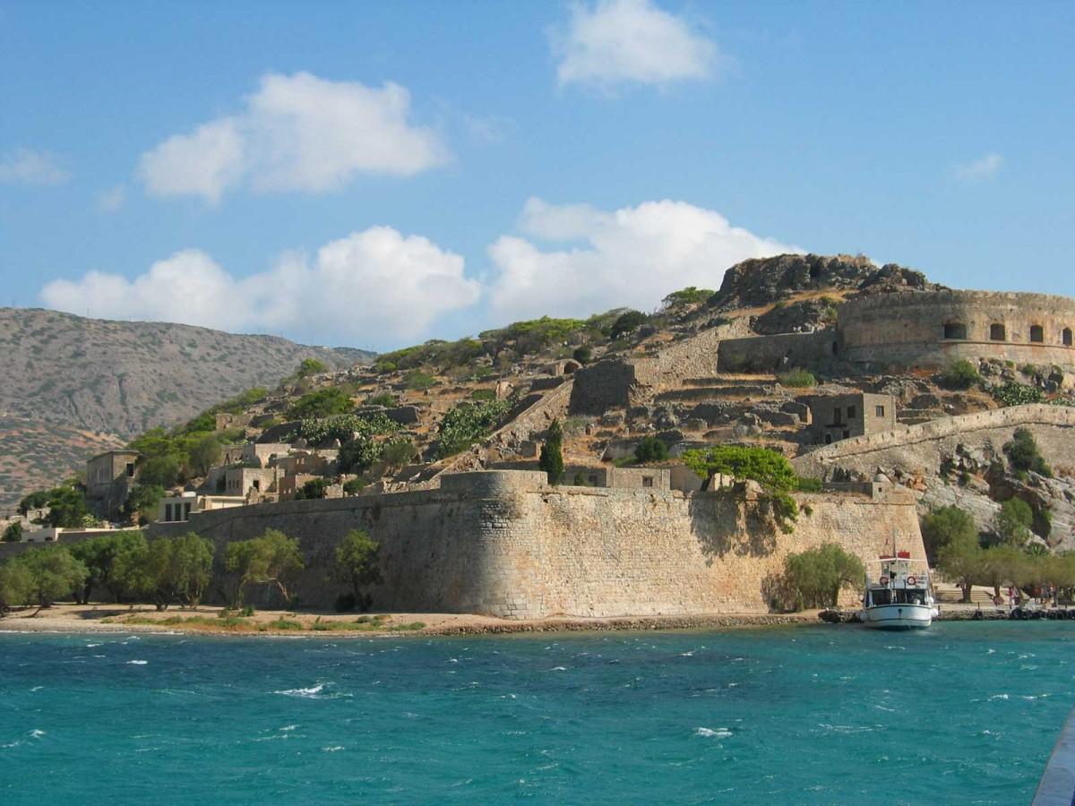 The island of Spinalonga in Lasithi, Crete.