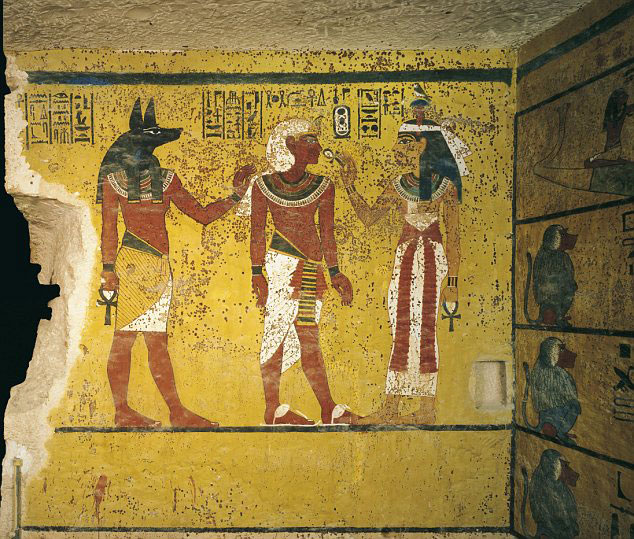 The breath of visitors at the tomb of Tutankhamun is causing the 3,000-year-old paint to peel away.