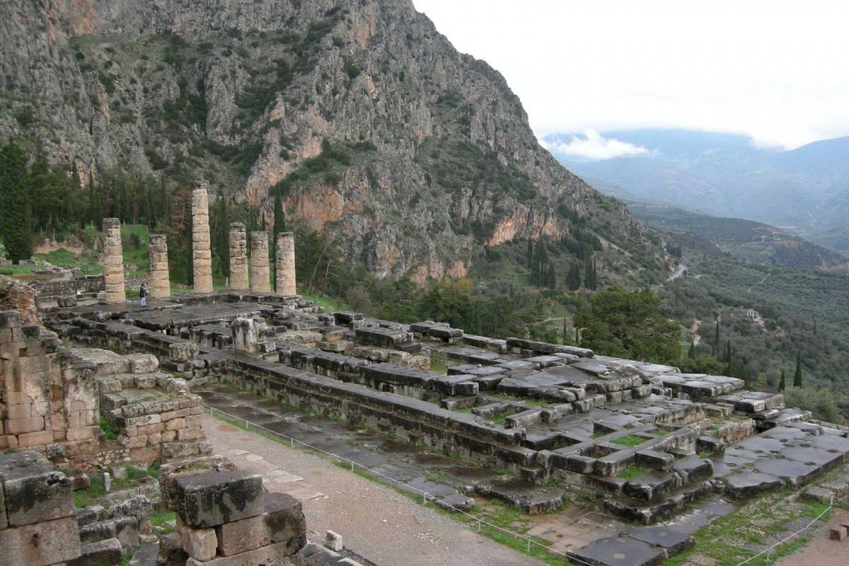 The Delphi archaeological site.