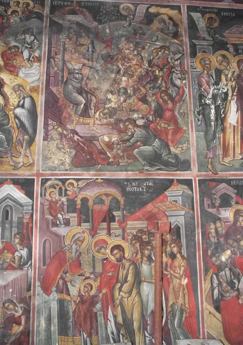Fresco at the Aghios Nikolaos church.