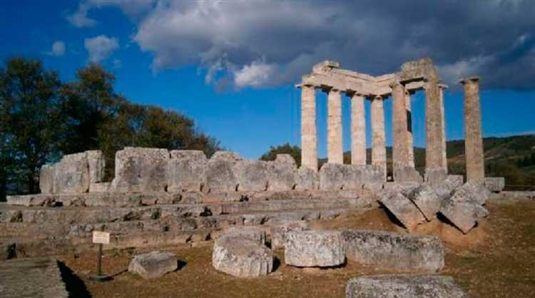 The Temple of Zeus at Nemea.