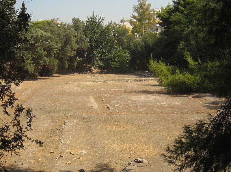View of the archaeological site of Plato's Academy.