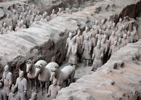 China's army of terracotta soldiers are buried in the ancient Chinese capital of Xian.