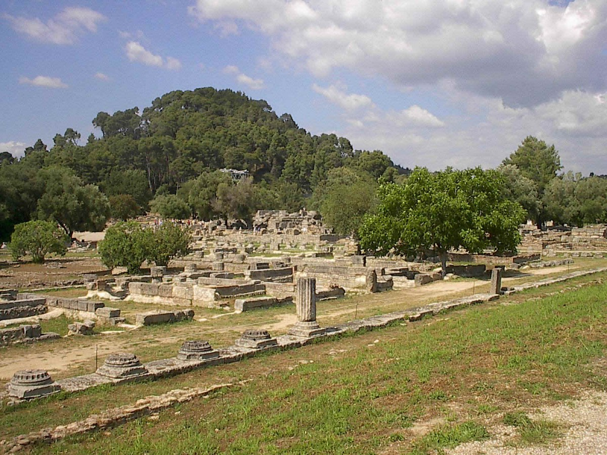 View of Ancient Olympia site.