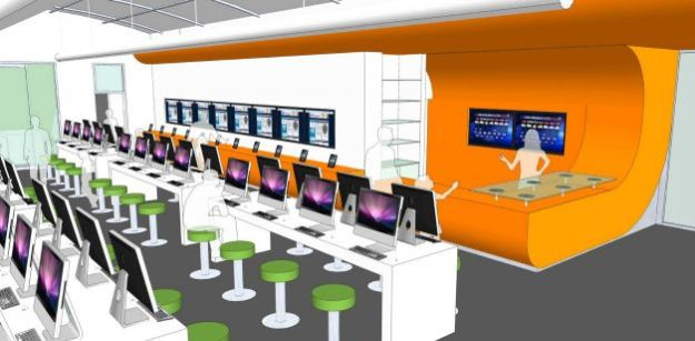 Conceptual rendering of Bexar County's digital-only BiblioTech library.